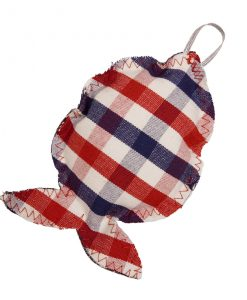 Blueberry Check Fat Catnip Fish Cat Toy