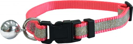 CC4063 Reflective Glitter Cat Collar Pink LR
