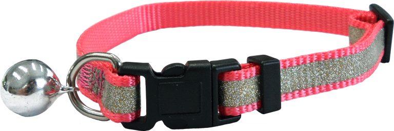 CC4063 Reflective Glitter Cat Collar Pink LR