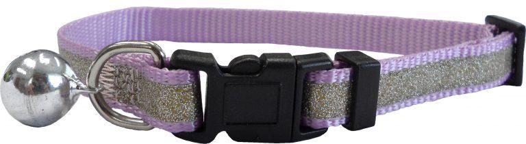 CC4063 Reflective Glitter Cat Collar Purple LR