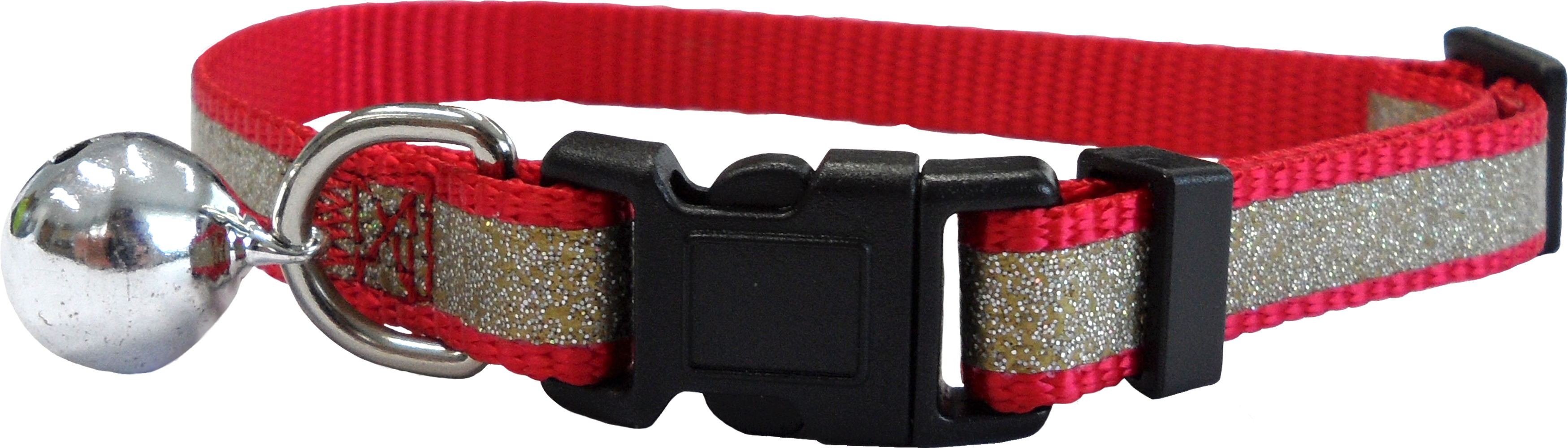 CC4063 Reflective Glitter Cat Collar Red LR