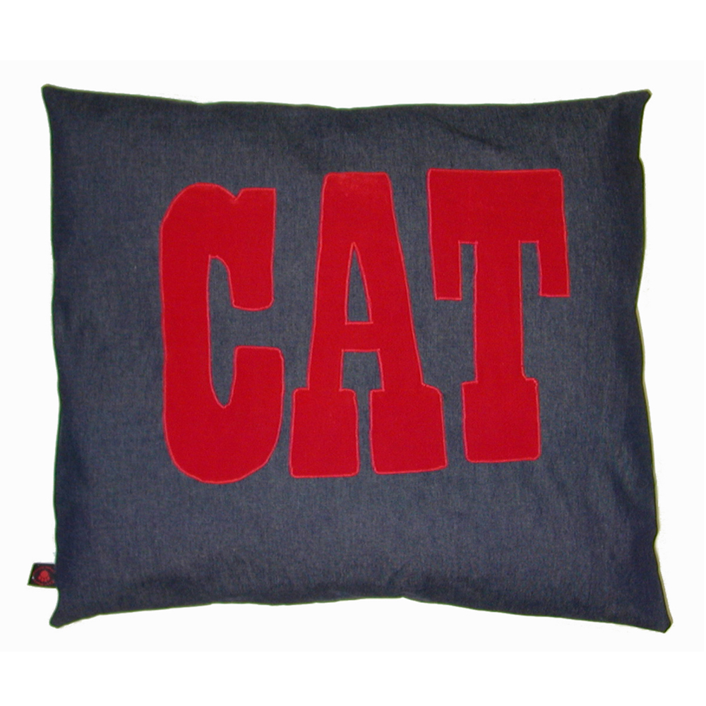 Cat Nappa Red Cat on Denim by Creature Clothes