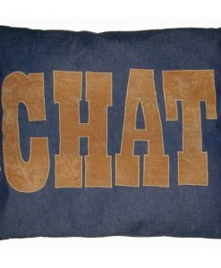 Chat Cat Nappa Tan on Denim by Creature Clothes