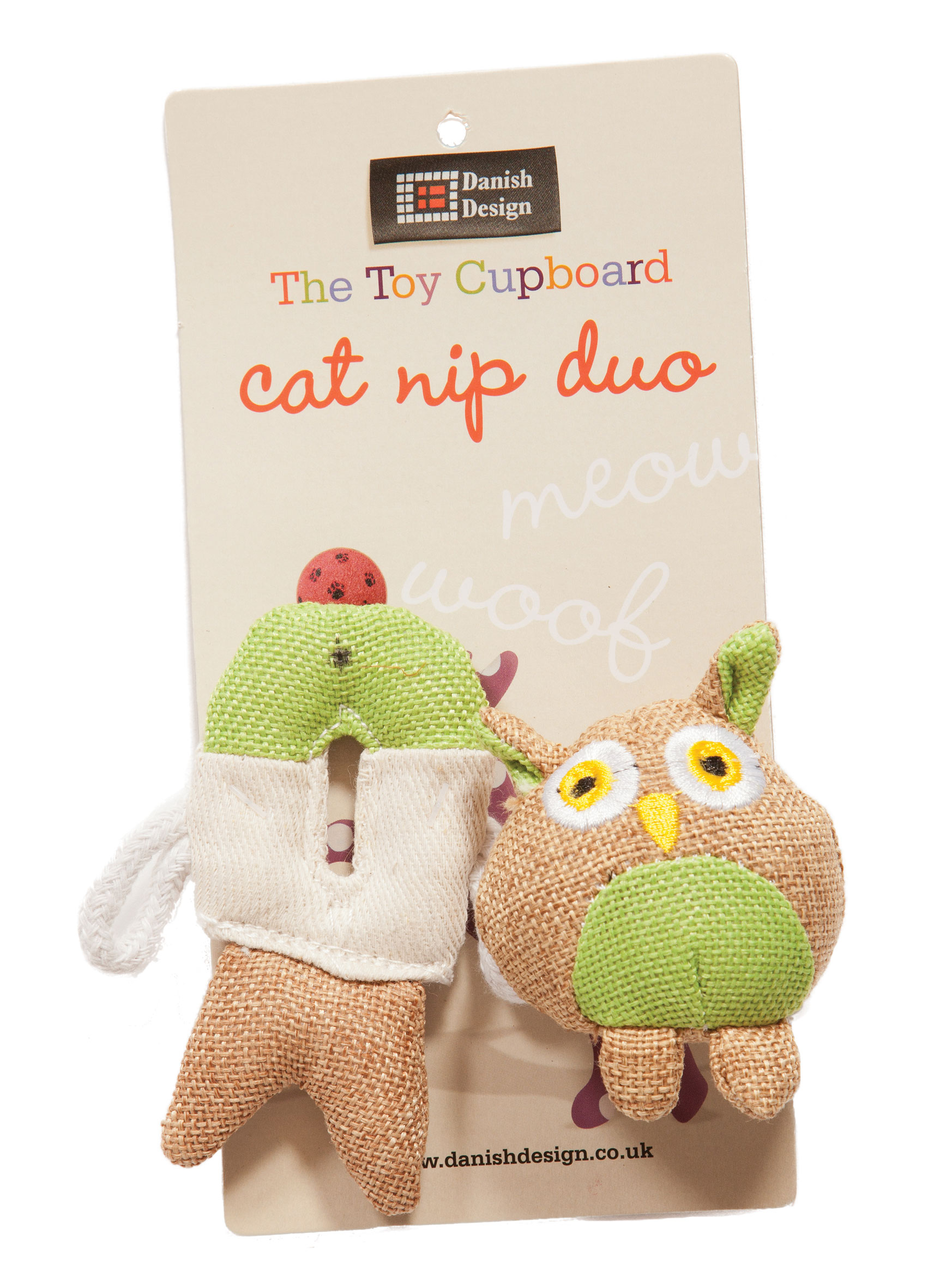 Fido and Fish Catnip Duo Cat Toys by Danish Design