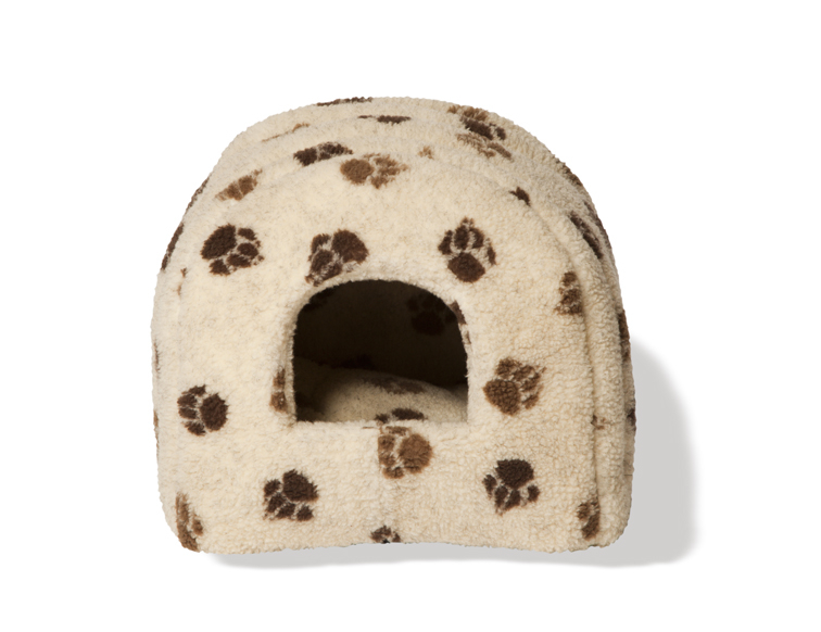 Sherpa Fleece Beige Amp Chocolate Cat Igloo By Danish Design