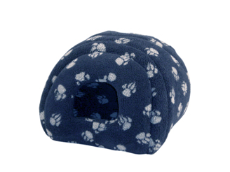 Sherpa Fleece Navy Cat Igloo by Danish Design