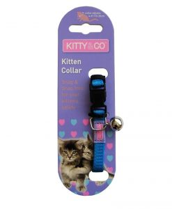 Kitty & Co Snag Free and Snap Free Blue Kitten Collar