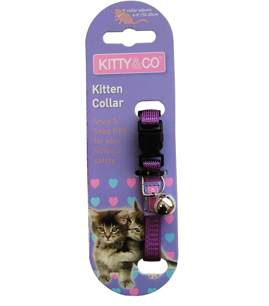 Kitty & Co Snag Free and Snap Free Purple Kitten Collar