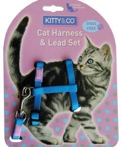 Kitty and Co Snag Free Blue Cat Harness & Lead Set