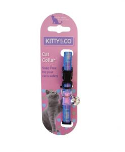 Kitty and Co Blue Tartan Cat Collar