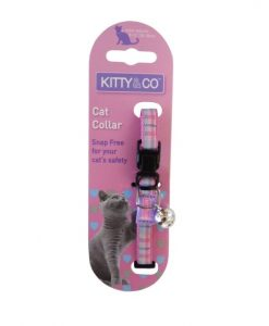 Kitty and Co Pink Tartan Cat Collar