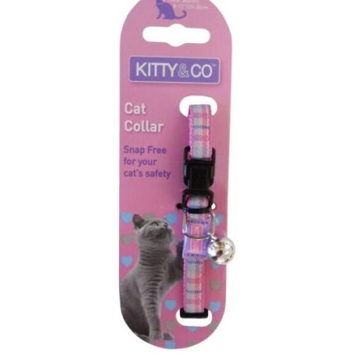 Kitty and Co Pink Tartan Cat Collar