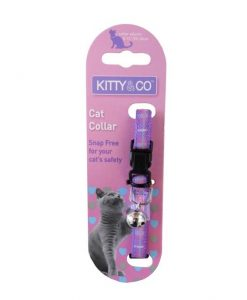 Kitty and Co Purple Tartan Cat Collar
