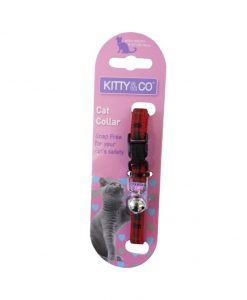 Kitty and Co Red Tartan Cat Collar