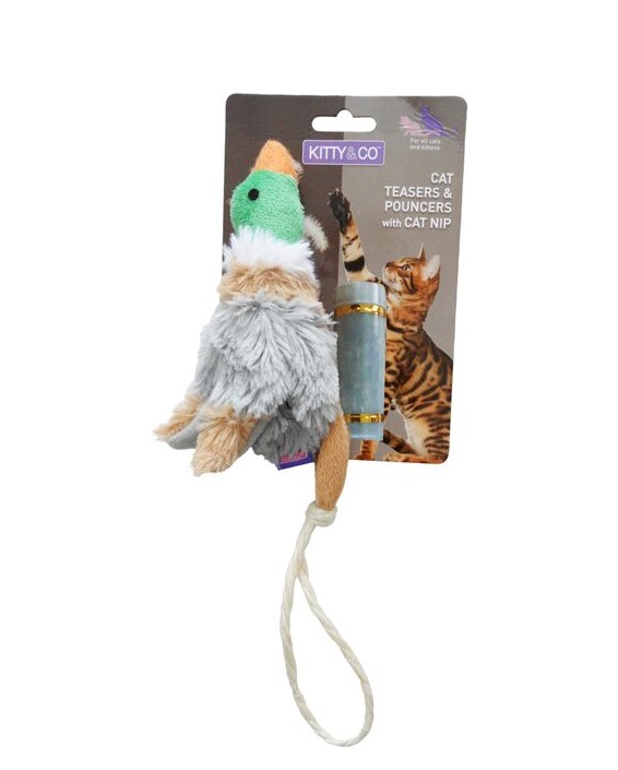 Kitty and Co Refillable Catnip Mallard Cat Toy