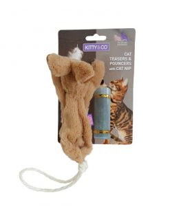 Kitty and Co Refillable Catnip Rabbit Cat Toy