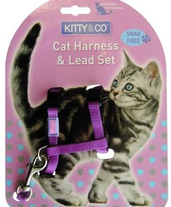 Kitty and Co Snag Free Purple Cat Harness & Lead Set