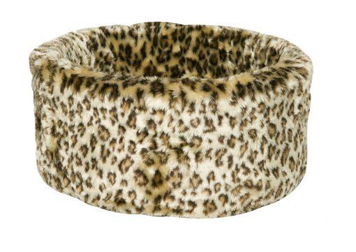 Leopard Print Cat Cosy Bed by Danish Design