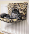 Leopard Print Kumfy Kradle Radiator Cat Bed by Danish Design