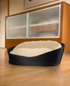 Luxury Arena Felt Fleece Cat Bed Anthracite Cream
