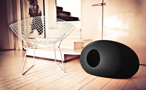 Luxury Black Poopoopeedo Cat Litter Box