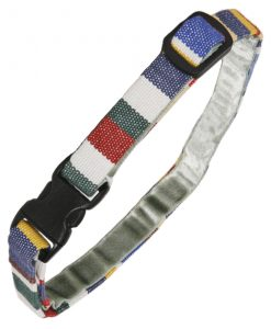 Luxury Blue Deckchair Stripe Cat Collar by Creature Clothes