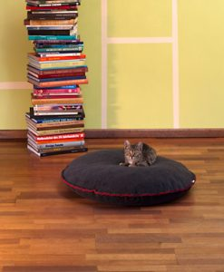Luxury Divan Cinque Fleece Cat Bed Graphite