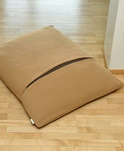 Luxury Divan Due Fleece Cat Bed Caramel Brown