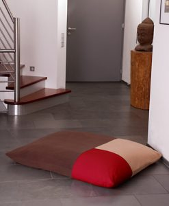 Luxury Divan Quattro Fleece Cat Bed Brown red