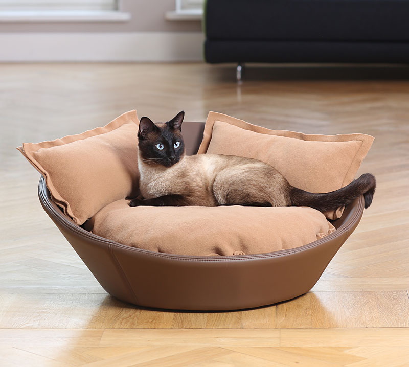 Luxury Faux Leather Mila Cat Bed Chelsea Cats