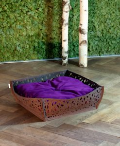 Luxury Felt Bowl Nido Cat Bed Brown Violet