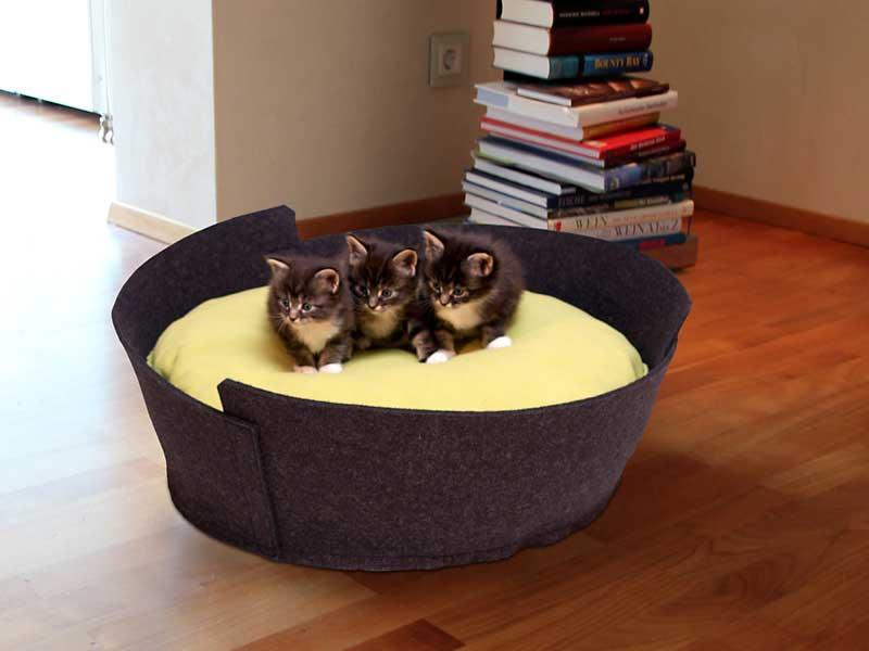 luxury lido felt cat bed chelsea cats. Black Bedroom Furniture Sets. Home Design Ideas