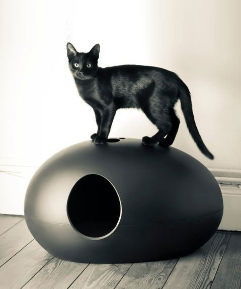Luxury Black Poopoopeedo Cat Litter Box