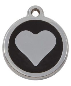 Luxury My Sweetie Black Heart Cat Pet ID Tag