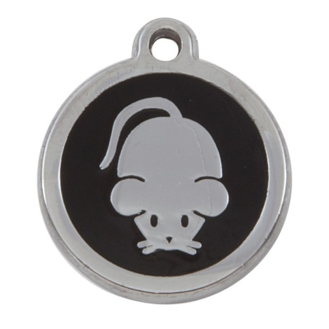 Luxury My Sweetie Black Mouse Cat Pet ID Tag