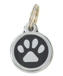 Luxury My Sweetie Black Paw Designer Cat ID Tag