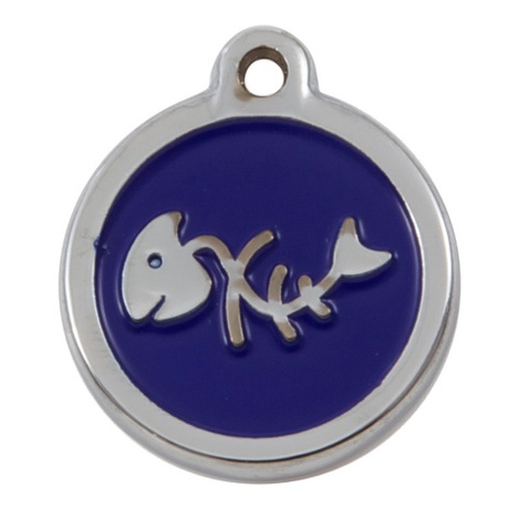 Luxury My Sweetie Blue Fishbone Cat Pet ID Tag