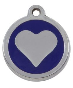 Luxury My Sweetie Blue Heart Cat Pet ID Tag
