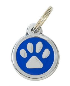 Luxury My Sweetie Blue Paw Designer Cat ID Tag