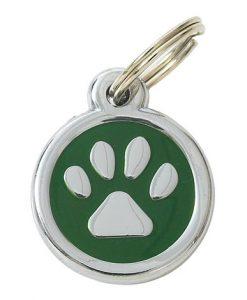Luxury My Sweetie Green Paw Designer Cat ID Tag