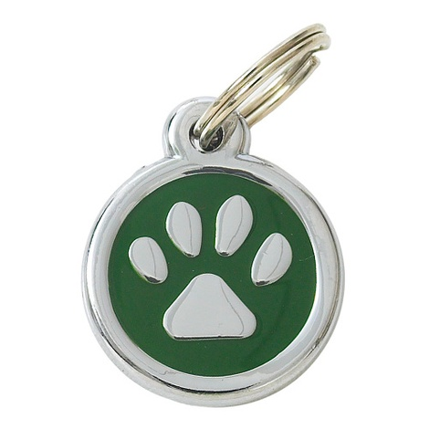 Luxury My Sweetie Green Paw Designer Cat ID Tag