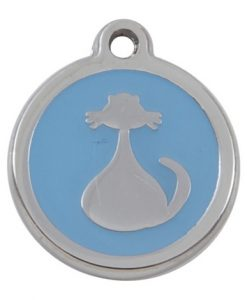 Luxury My Sweetie Light Blue Cat Pet ID Tag