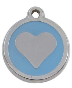 Luxury My Sweetie Light Blue Heart Cat Pet ID Tag