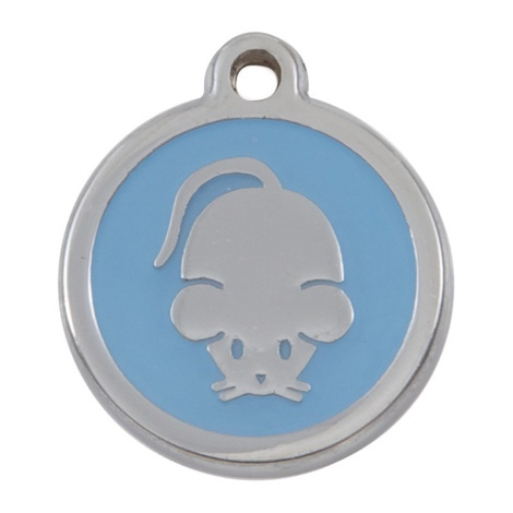 Luxury My Sweetie Light Blue Mouse Cat Pet ID Tag
