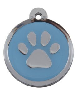 Luxury My Sweetie Light Blue Paw Designer Cat ID Tag