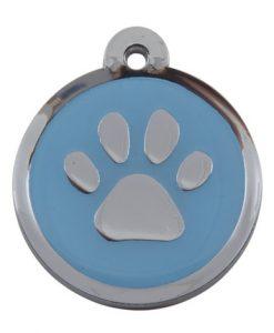 Luxury My Sweetie Light Blue Paw Designer Cat ID Tag