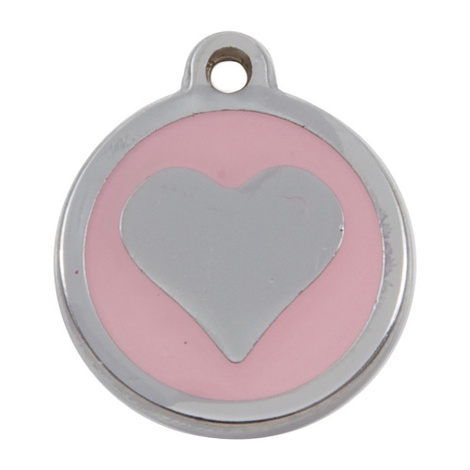 Luxury My Sweetie Light Pink Heart Cat Pet ID Tag