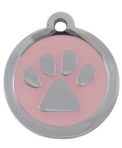 Luxury My Sweetie Light Pink Paw Designer Cat ID Tag