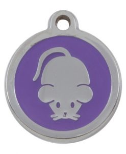 Luxury My Sweetie Lilac Mouse Cat Pet ID Tag