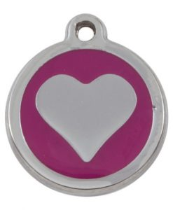 Luxury My Sweetie Pink Heart Cat Pet ID Tag